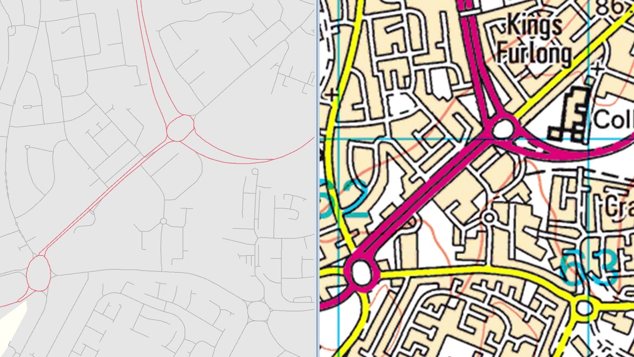 OSM & OS digital maps