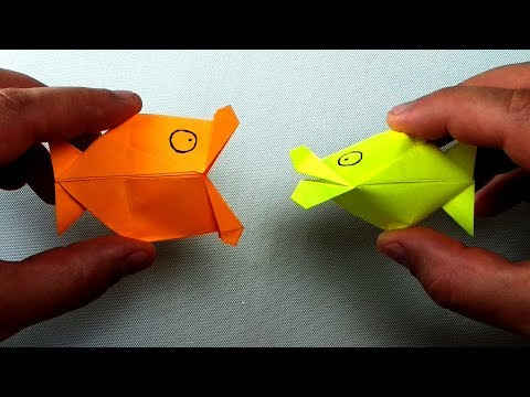 How To Fold An Origami Fish Puppet