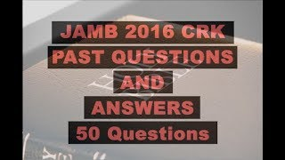 JAMB/UTME CRK 2016 Past Questions and Answers: Q31-40
