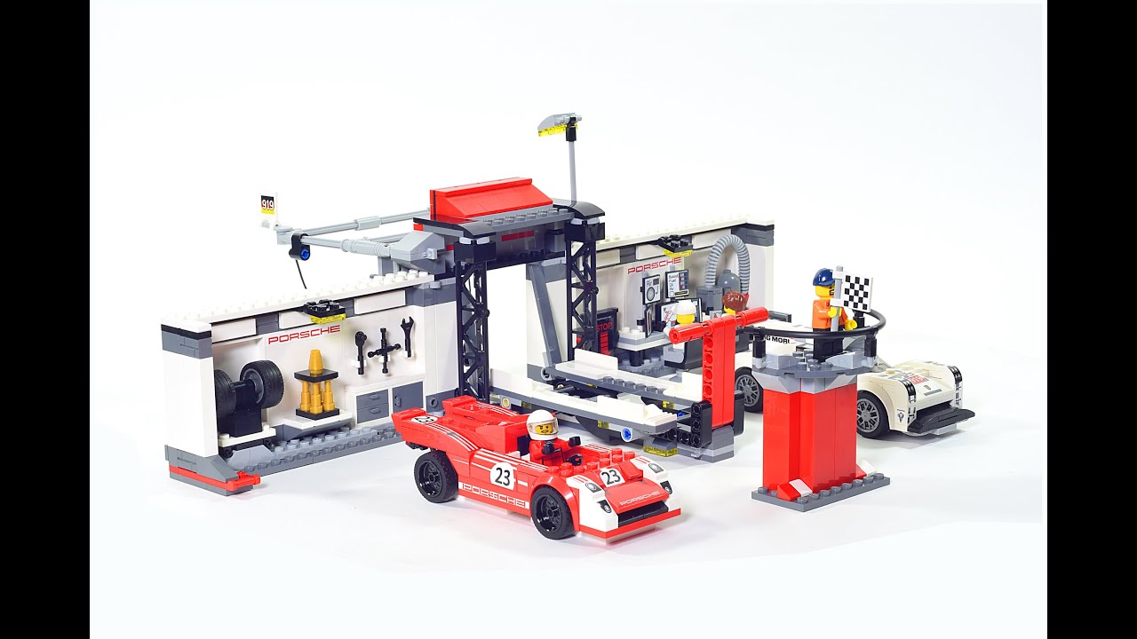 lego speed champions porsche 919 hybrid and 917k pit lane. Black Bedroom Furniture Sets. Home Design Ideas