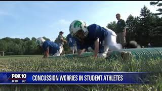 Concussion worries in student athletes