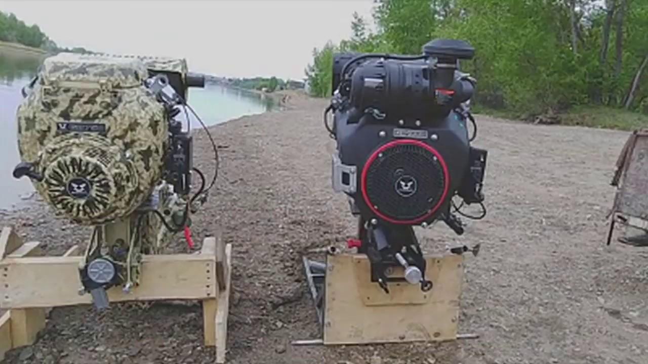 Ходовые испытания мотора-болотохода 35 л.с.