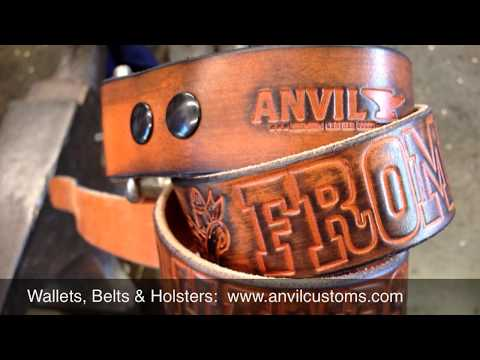 Leather Gun Holster & Custom Leather Belt made by ANVIL