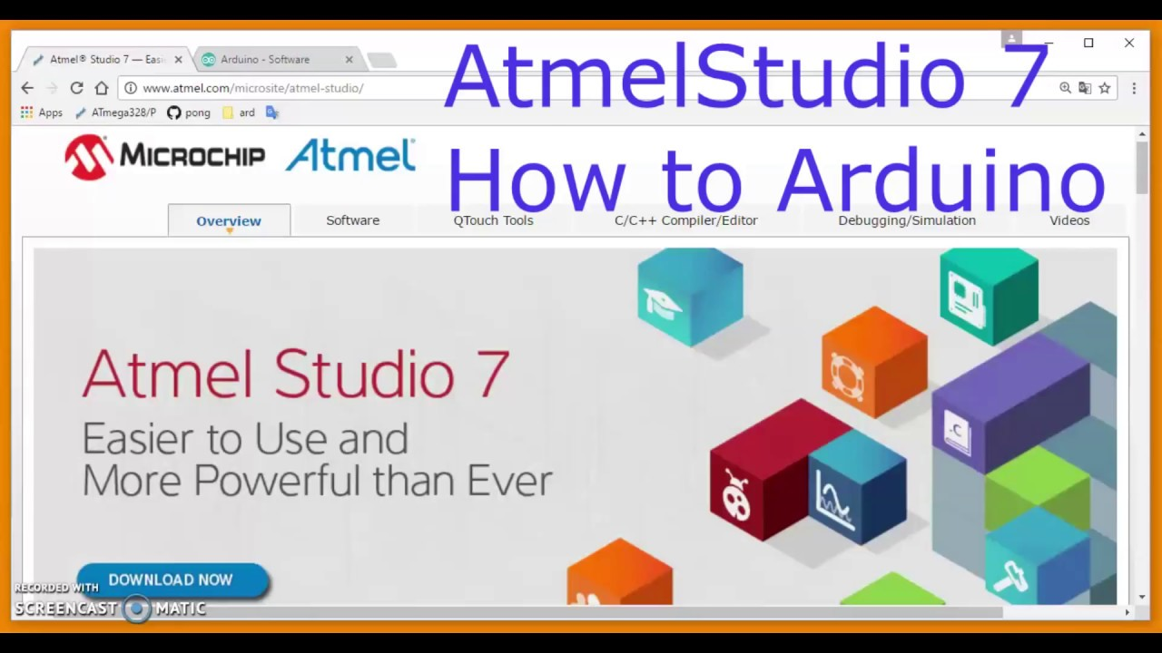 How to load programs to an Arduino UNO from Atmel Studio 7 #arduSerie-26