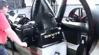 Big Deutz anno 1930, 67 liter diesel start up