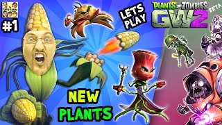 Lets Play Plants vs. Zombies Garden Warfare 2 #1:  NEW PLANTS SHOWCASE! (FGTEEV PVZ GW2 Beta)