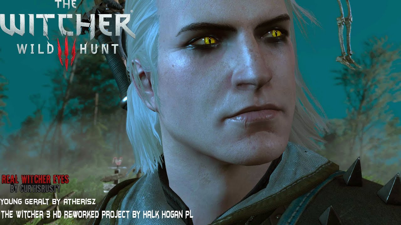 The Witcher 3 Young Geralt Real Witcher Eyes Mod