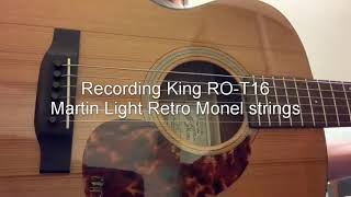 Recording King Torrefied Series Test RO-T16 and RD-T16