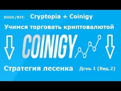 Cryptopia + Coinigy - учимся торговать(день1) (вид.2)