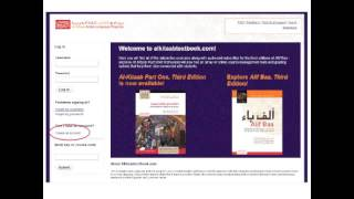 setting up and navigating the al kitaab companion website for teachers