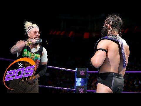 Enzo Amore kicks WWE Cruiserweight Champion Neville where it counts: WWE 205 Live, Sept. 19. 2017