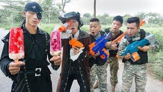 Cover images Battle Nerf War: Sailor Man Nerf Guns Robber Group ICE CREAM BATTLE