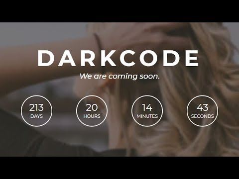 Coming soon Page Using HTML CSS & JAVASCRIPT