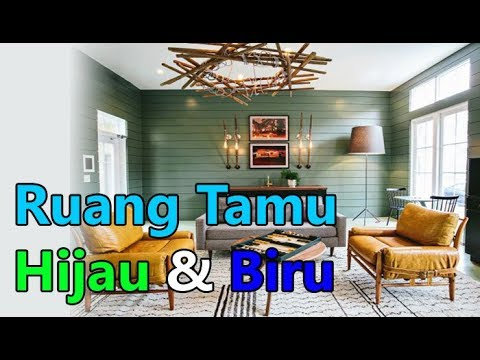 Desain Dan Contoh Warna Cat Pada Ruang Tamu Dengan Menggunakan Hijau Biru