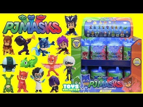 PJ MASKS Collectible Figures Surprise Capsules Series 5 with Owlette, Catboy & Gekko