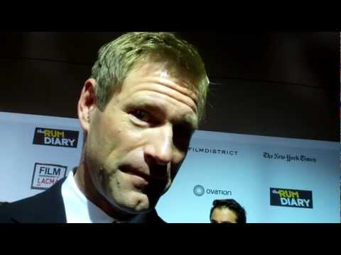 "Aaron Eckhart at ""The Rum Diary"" premiere"