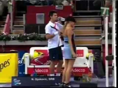 Djokovic Hits Sexy Ballgirl Must See Youtube