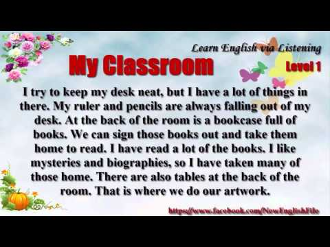 Learn English via Listening Level 1 Unit 68 My Classroom