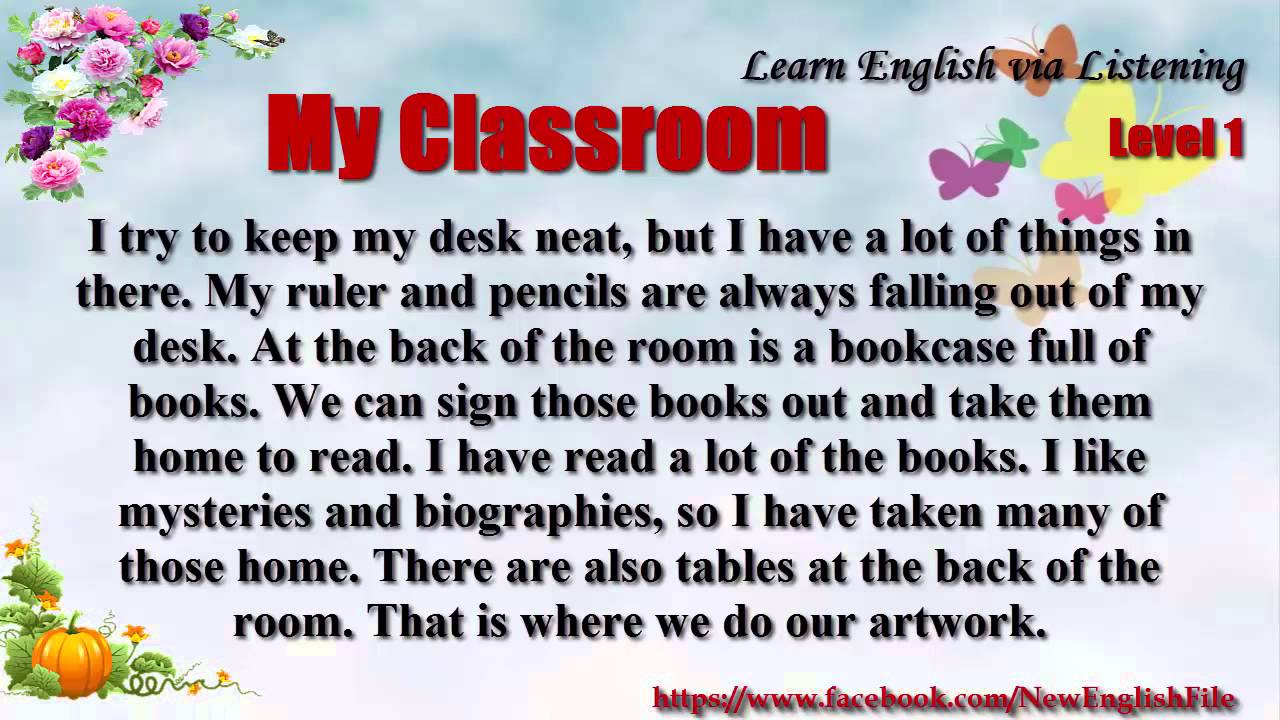 learn english via listening level  unit  my classroom  youtube learn english via listening level  unit  my classroom research paper vs essay also thesis statement for definition essay types of english essays
