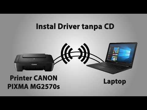 Cara instal aplikasi printer canon ip2870 tanpa CD Driver.