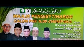 Majlis Pengisytiharan Calon PRK N06 Chempaka