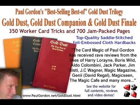 Paul Gordon Card Magic Entertainer - Live Card Tricks from The Gold Dust Trilogy