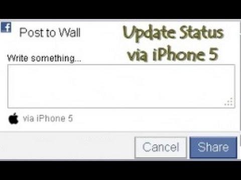 Update your Facebook status via iPhone 5