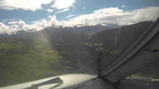 Landing in Bumthang RWY 14, ATR 42-500 Royal Bhutan Airlines