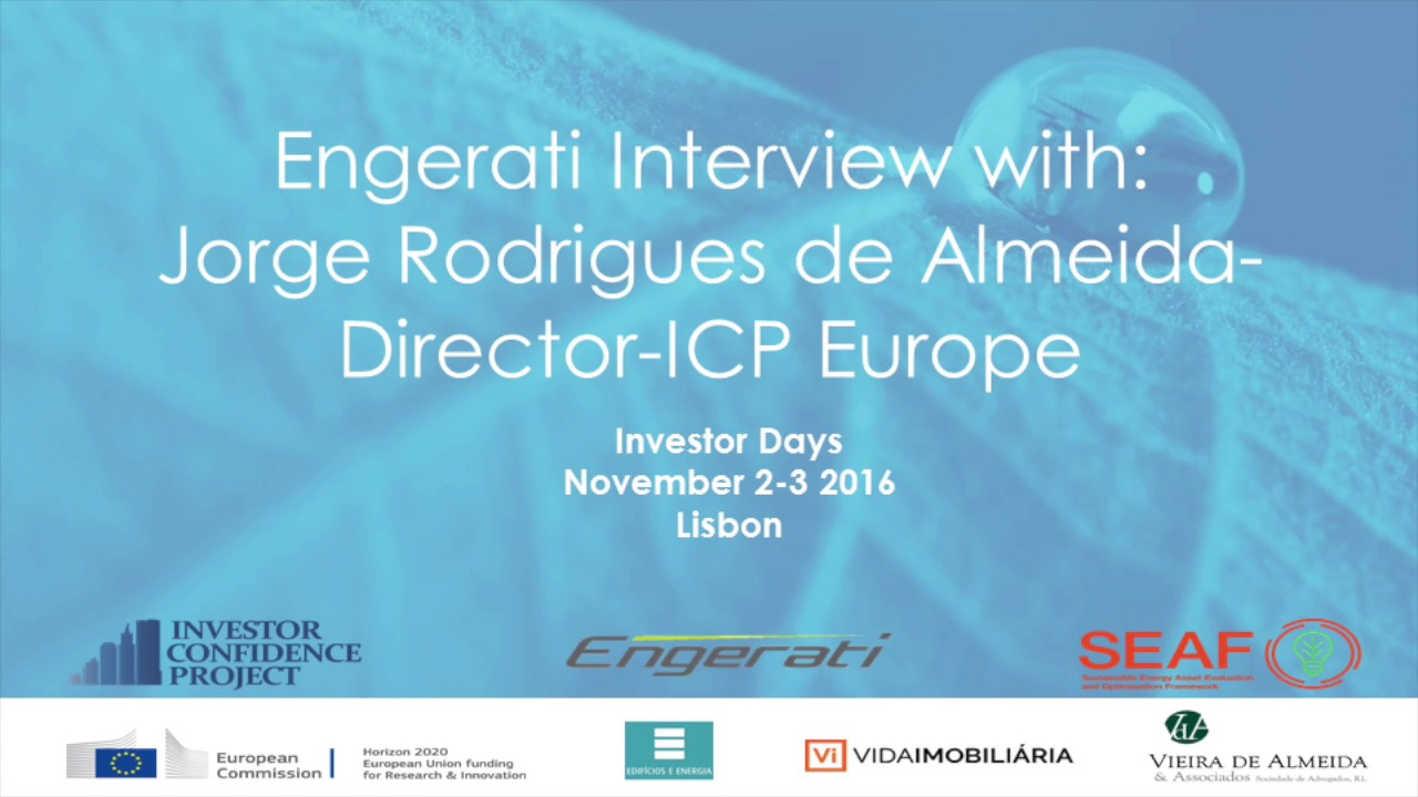 Jorge Rodrigues de Almeida, Director, ICP Europe