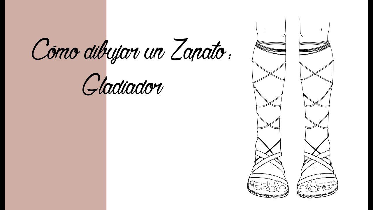Gladiador Cómo Sandalias De Dibujar TutorialEspañol Unas HEIWY9D2