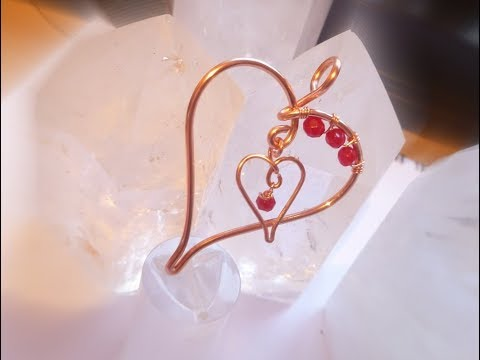 Two Hearts Pendant Wire Wrap Tutorial