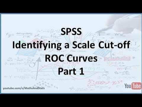 SPSS: How to identify an optimum Cut-Off Point on a Psychometric Scale - Part 1