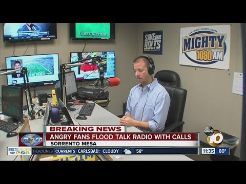 Angry fans flood talk radio with calls