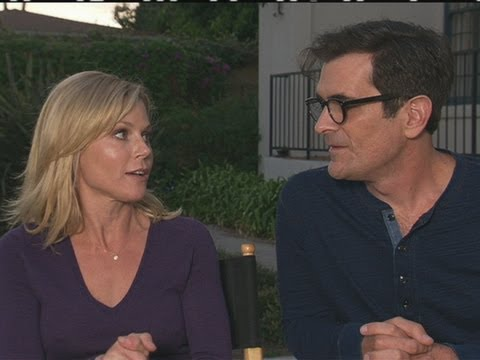 Modern Family: Julie Bowen and Ty Burrell on set interview in LA