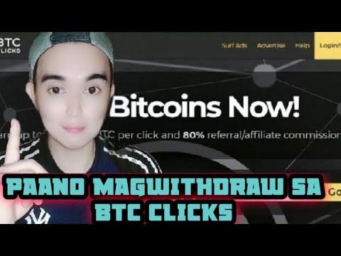 Video Tutorial kung paano mag  withdrawal sa  BtcClick to Bitcoin wallet Blockchain account