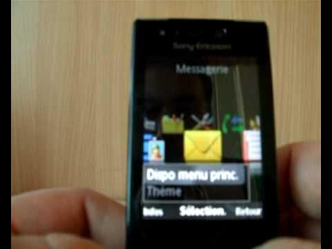 Présentation des themes du Sony Ericsson G705