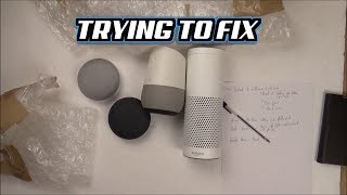 Trying to FIX: 4 Faulty Smart Speakers - Google and Amazon