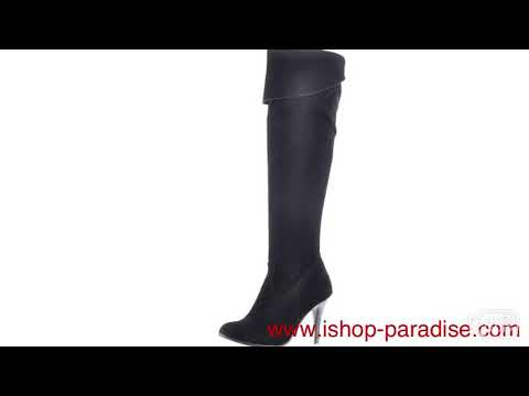 Women's thigh high heel boots plus size shoes sexy booties sb65