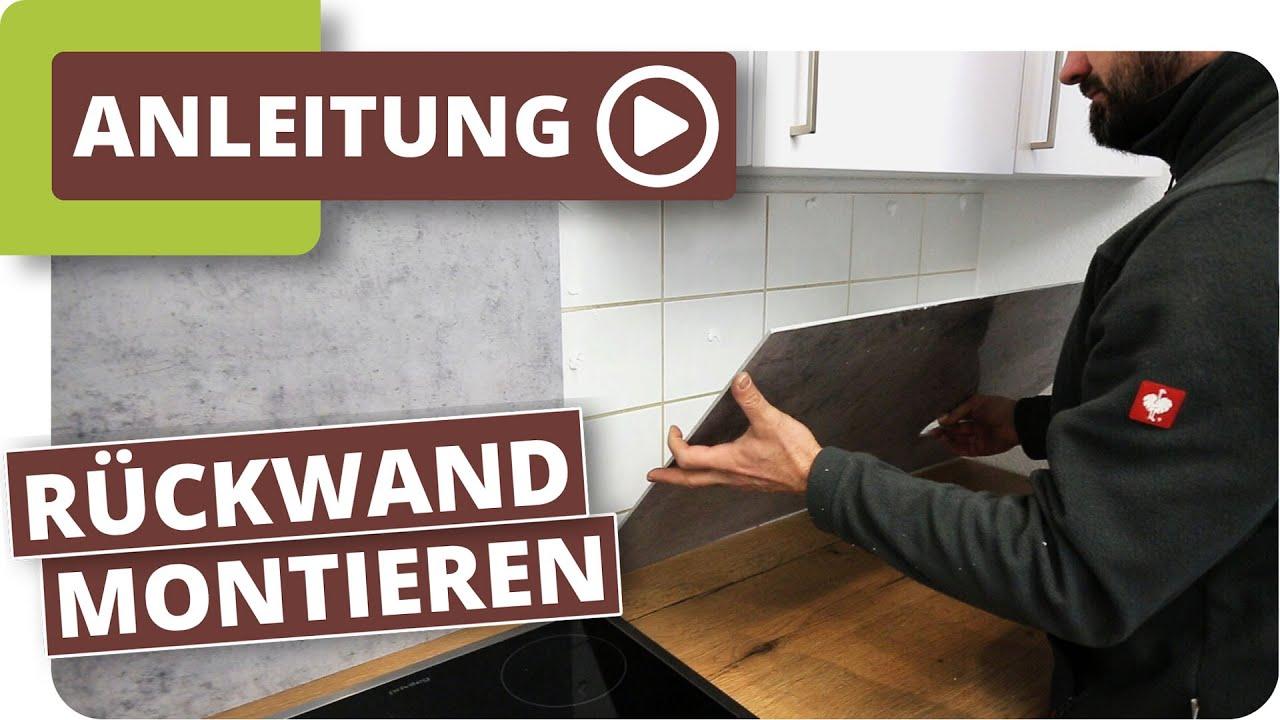Kuchenruckwand Auf Alten Fliesenspiegel Kleben Youtube