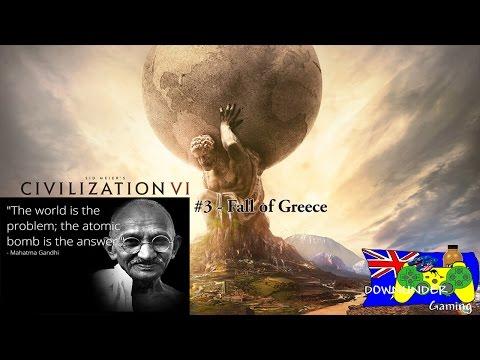 Civilization VI - Gandhi's Rise #3 - Fall of Greece
