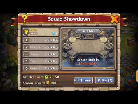 Castle Clash Squad Showdown Best Setup !!!!