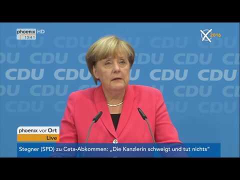 Abgeordnetenhauswahl in Berlin: Pressekonferenz der CDU mit Angela Merkel am 19.09.2016