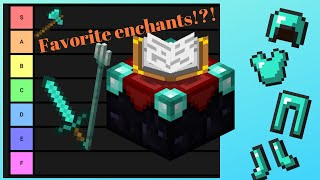 Ranking all the Minecraft Enchantments! (Tier List)