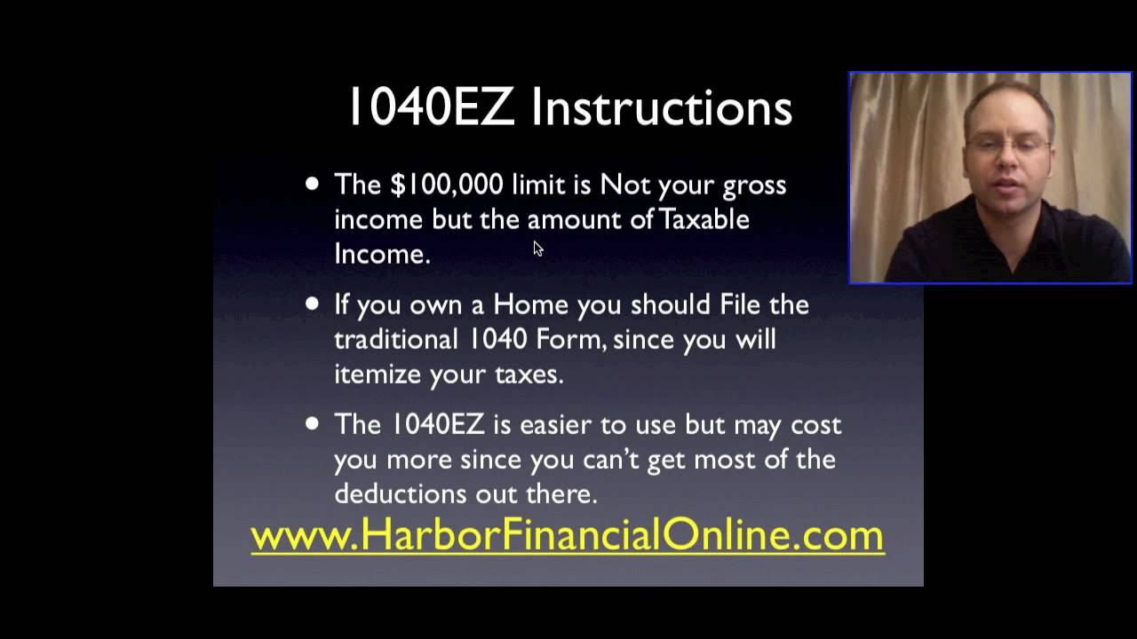 1040 Ez Instructions Online For 2012 2013 Youtube