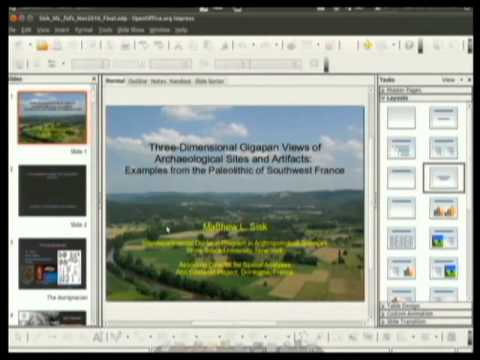 Three-Dimensional Gigapan Views of Archaeological Sites and Artifacts