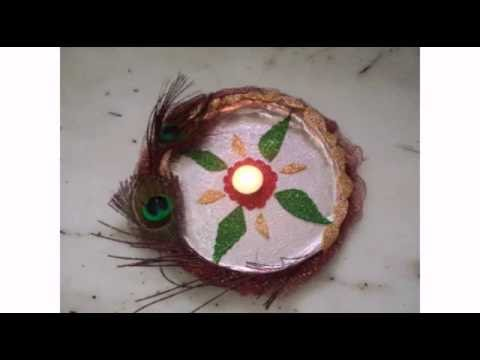Puja aarti thali decoration for festivals diy craftlas for Aarti thali decoration with pulses