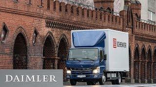 Der FUSO eCanter- Kundenübergabe des ersten vollelektrischen Lkw in Europa