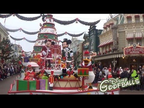 disney 39 s christmas parade new floats 2016 disneyland paris youtube. Black Bedroom Furniture Sets. Home Design Ideas
