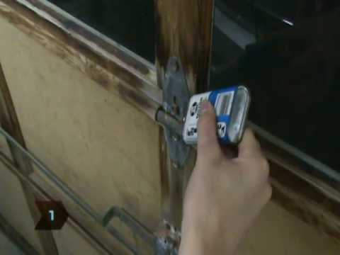 How To Lubricate A Garage Door Youtube