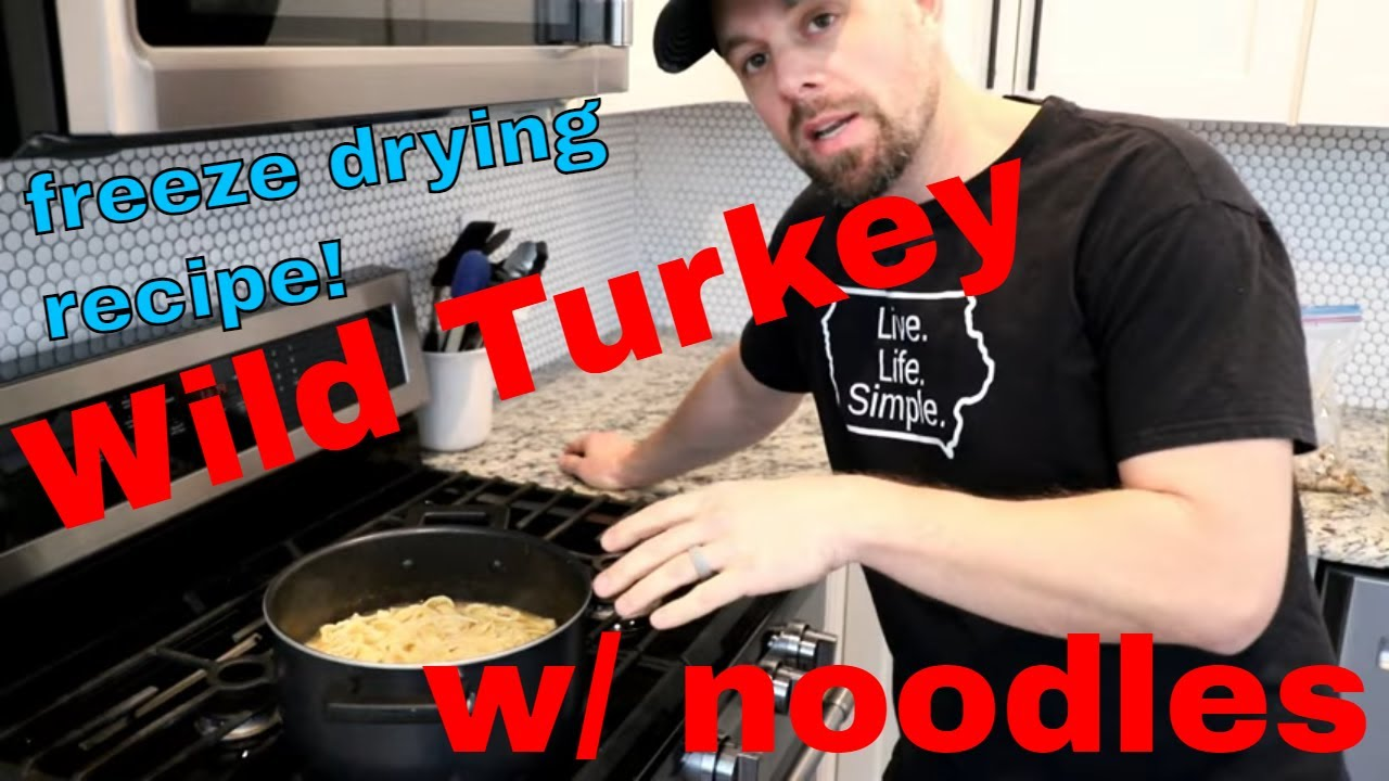 Grandma's WILD TURKEY🦃& NOODLES FREEZE DRIED & REHYDRATED w/ Recipe!